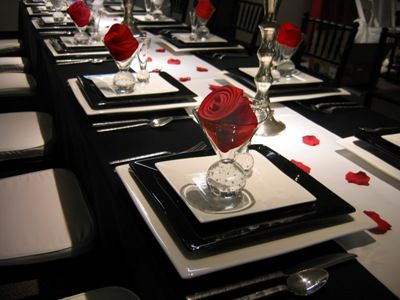 Black, White And Red Table Setting 2 Part 59