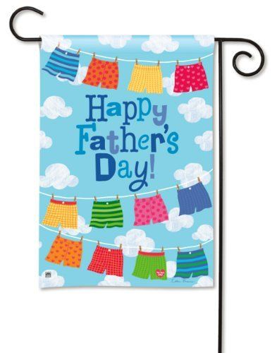 Happy Father S Day Garden Flag By Breezeart By Magnetworks 9 99 Hand Wash Cold Water Mild Soap Breezeart Decor Holiday Flag Happy Fathers Day Flag Decor