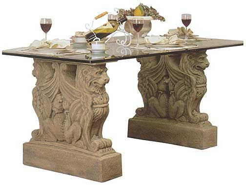 Attractive Griffin Lion Table Base