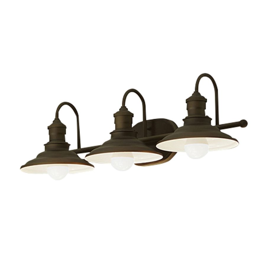 for The Bathroom Shop Allen Roth 3 Light Hainsbrook Bronze