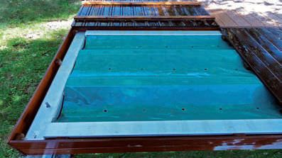 Security Sliding Deck Pool Cover Walter Piscine Hot Tub Cover Tub Cover Pool Decks