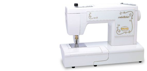 Baby Lock Embellisher Good Bye Wasted Scraps Of Yarn Ribbon And Fabric Hello Fabric Of My Dreams Baby Lock Sewing Machine Sewing Machine Babylock