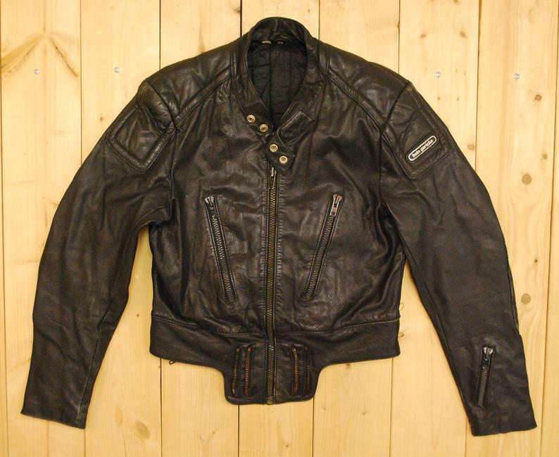 Vintage 1980's Black HEIN GERICKE Leather Motorcycle