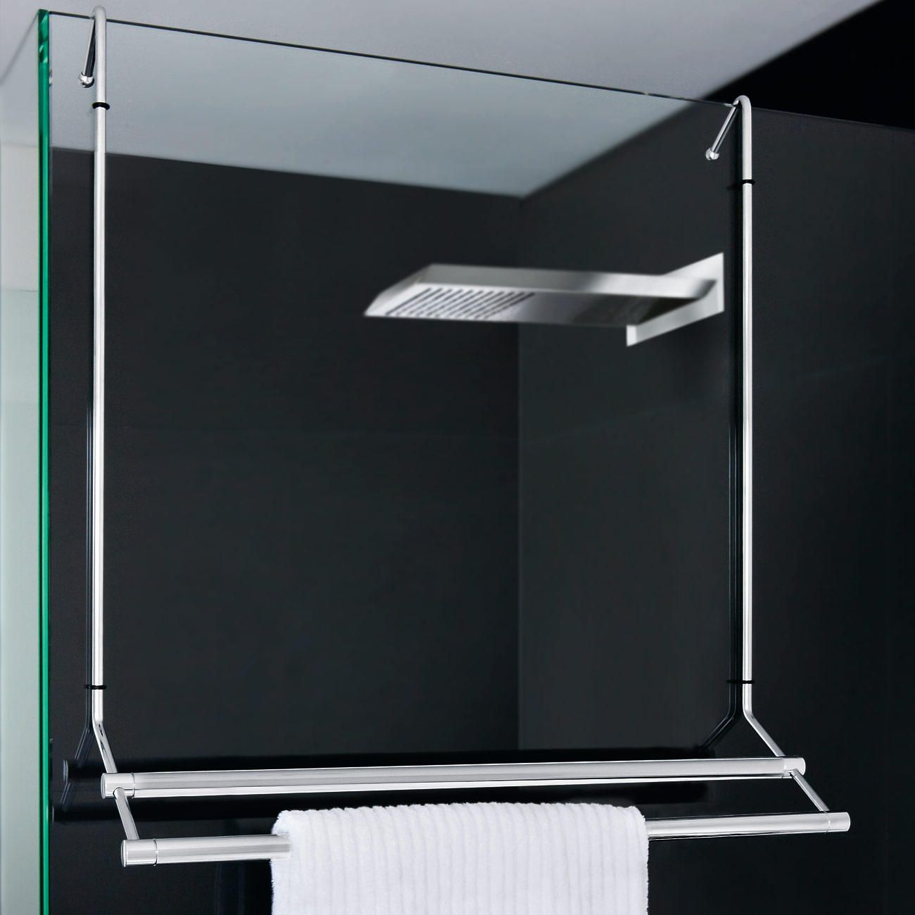 Aan De Douche Opgehangen Bespaart Uw Handdoekhouder Ruimte En Hij Kan Voor Het Reinigen Van Het Glas Badetuchhalter Handtuchhalter Handtuchhalter Glasdusche