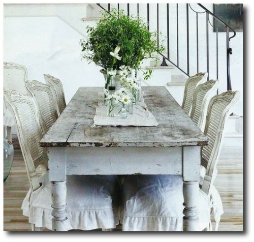 French Style Farm Table, Cording, Drapery, French Pleating, French Ticking,  Ruffles