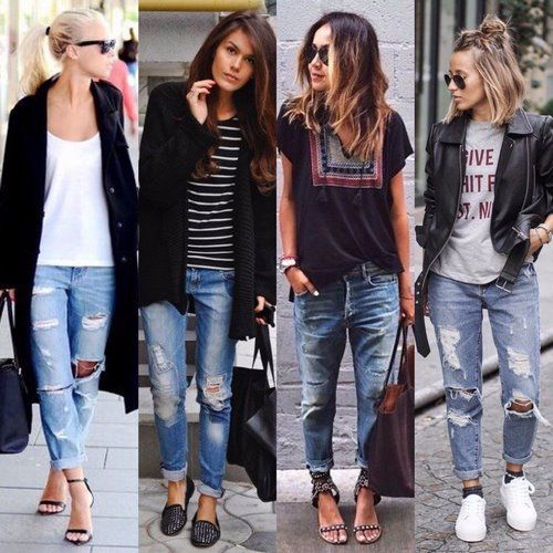 6e80a449d364 Модные джинсы 2018-2019 фото, с чем носить джинсы, модные женские ...