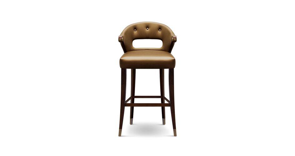 NANOOK BARSTUHL BRABBU   Messing Holz Couchtisch   Messing Holz Esstisch   Samt Sofa   Luxus Möbel   Samt Sessel   www.wohndesign-trend.de   Leder Sessel   Messing Sideboard