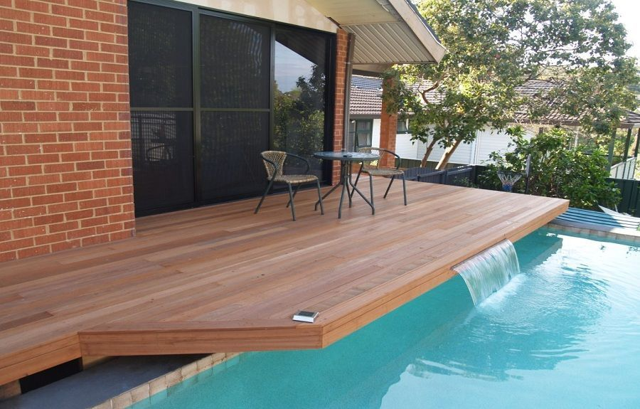 Easy To Build Above Ground Pool Decks Costtobuildadeck Wood Pool Deck Above Ground Pool Decks Backyard Pool Landscaping