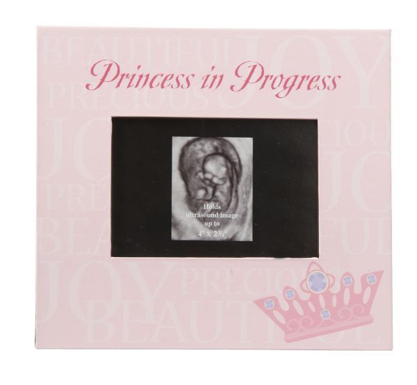 princess in progress pink ultrasound or sonogram picture frame