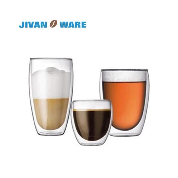 Jivanware 1 Pcs Heat Resistant Coffee Tea Cup Set Double Layer Creativ Modlilj Glass Coffee Mugs Glass Coffee Cups Double Wall Glass