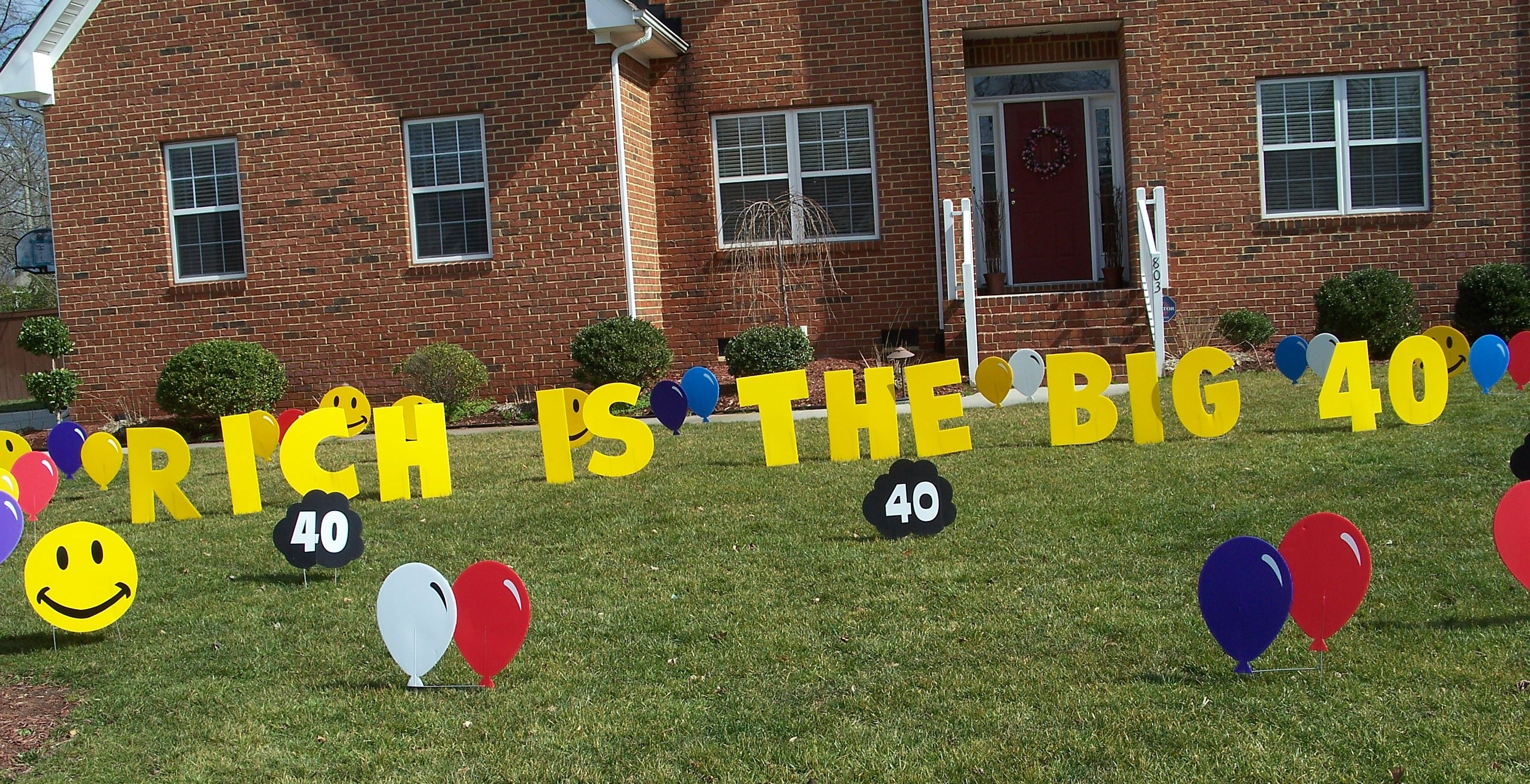 Birthday Signs for Front Yard Birthday yard signs