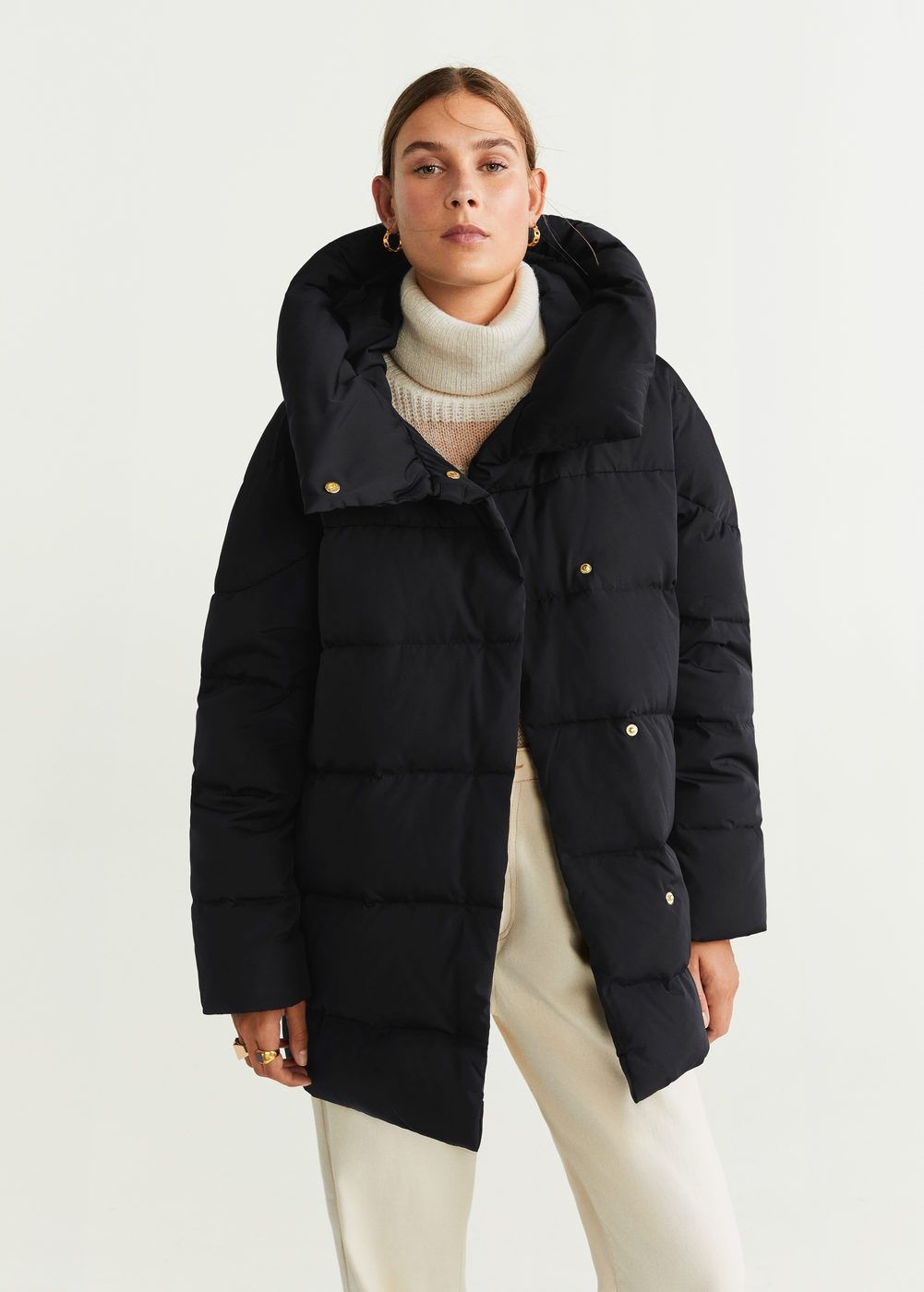 Hood Quilted Coat Women Mango United Kingdom Coats For Women Quilted Coat Women Quilted Coat [ 1400 x 1001 Pixel ]