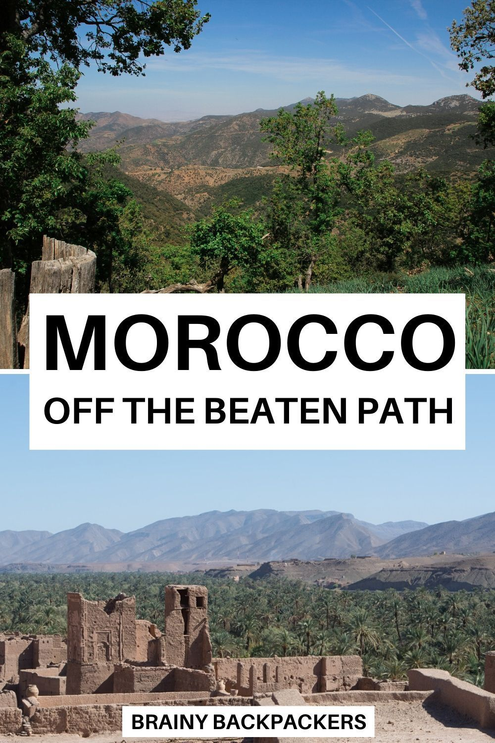 Are you planning a trip to Morocco? Why not travel Morocco off the beaten path? Here is a great collection of beautiful offbeat Morocco destinations for your bucket list! #responsibletourism #sustainabletourism #offthebeatentrack #brainybackpackers #traveltips #africa #northafrica #beautifulplaces #responsibletravel