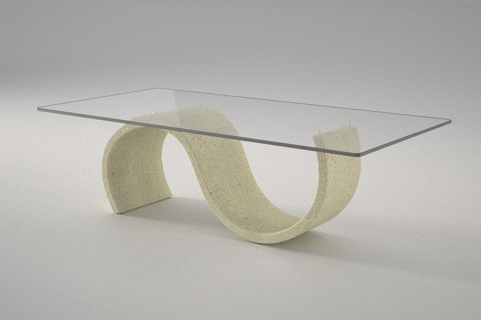 Articolo 416-1 Tavolino da salotto Crono - Finitura: effetto pietra.Misure: cm 110 x 65 - Altezza: cm 38 - Peso: Kg. 42 - Vetro: rettangolare - temperato - extrawhite - filo lucido - spessore 1 cm