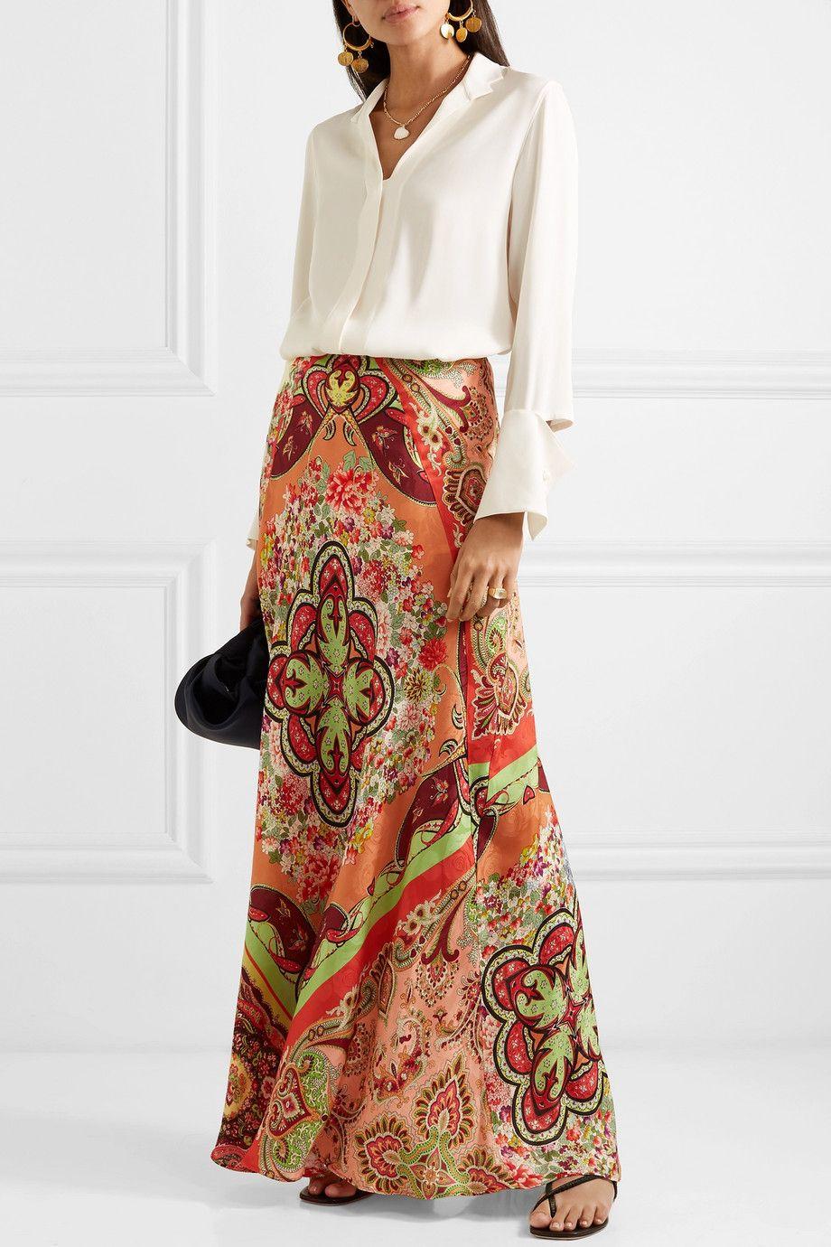116459420a Etro - Printed satin-jacquard maxi skirt in 2019 | Pure fashion ...