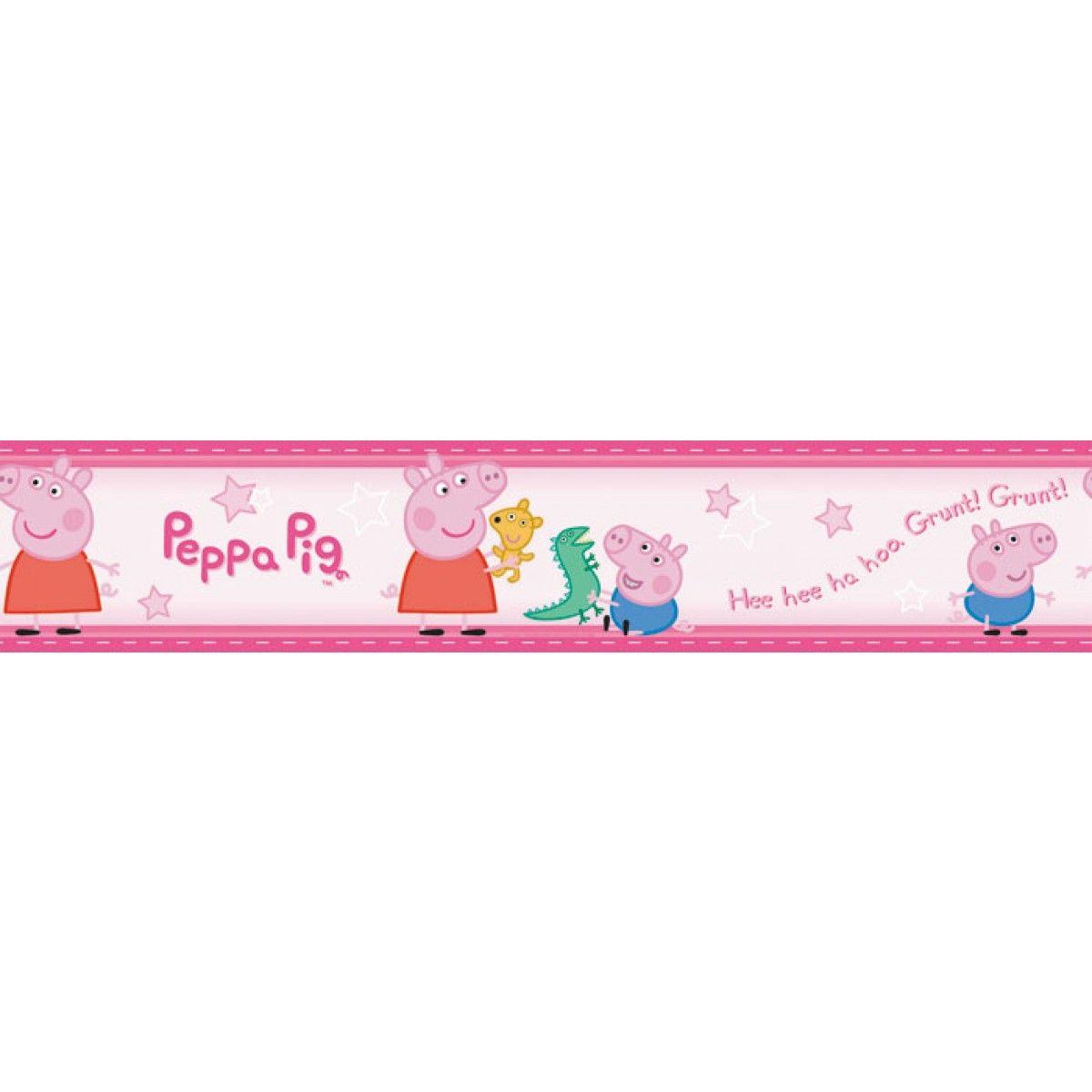 Peppa Pig George Wallpaper Border Self Adhesive 5m Peppa Pig Peppa Wallpaper