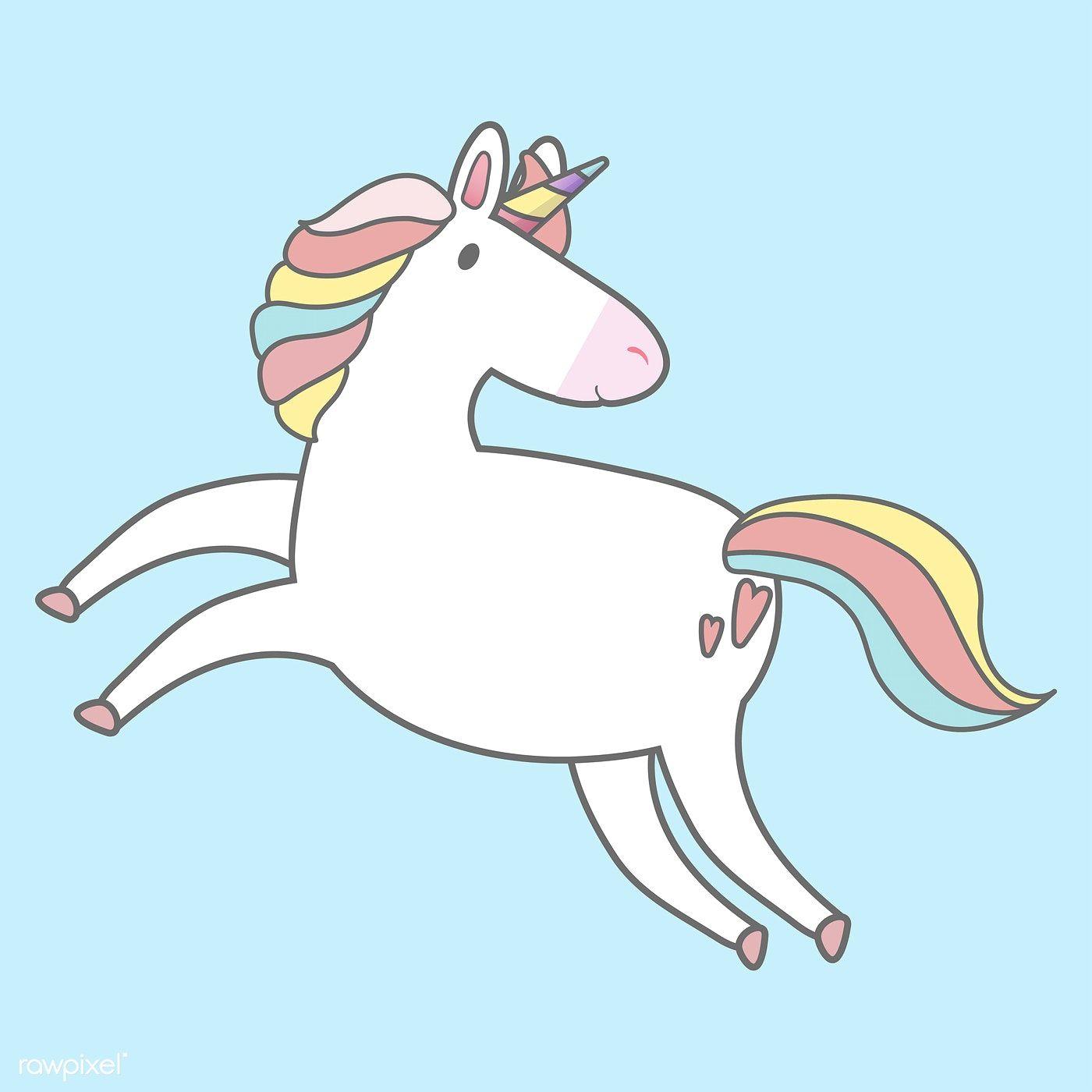 Magical Rainbow Unicorn Illustration Vector Free Image By