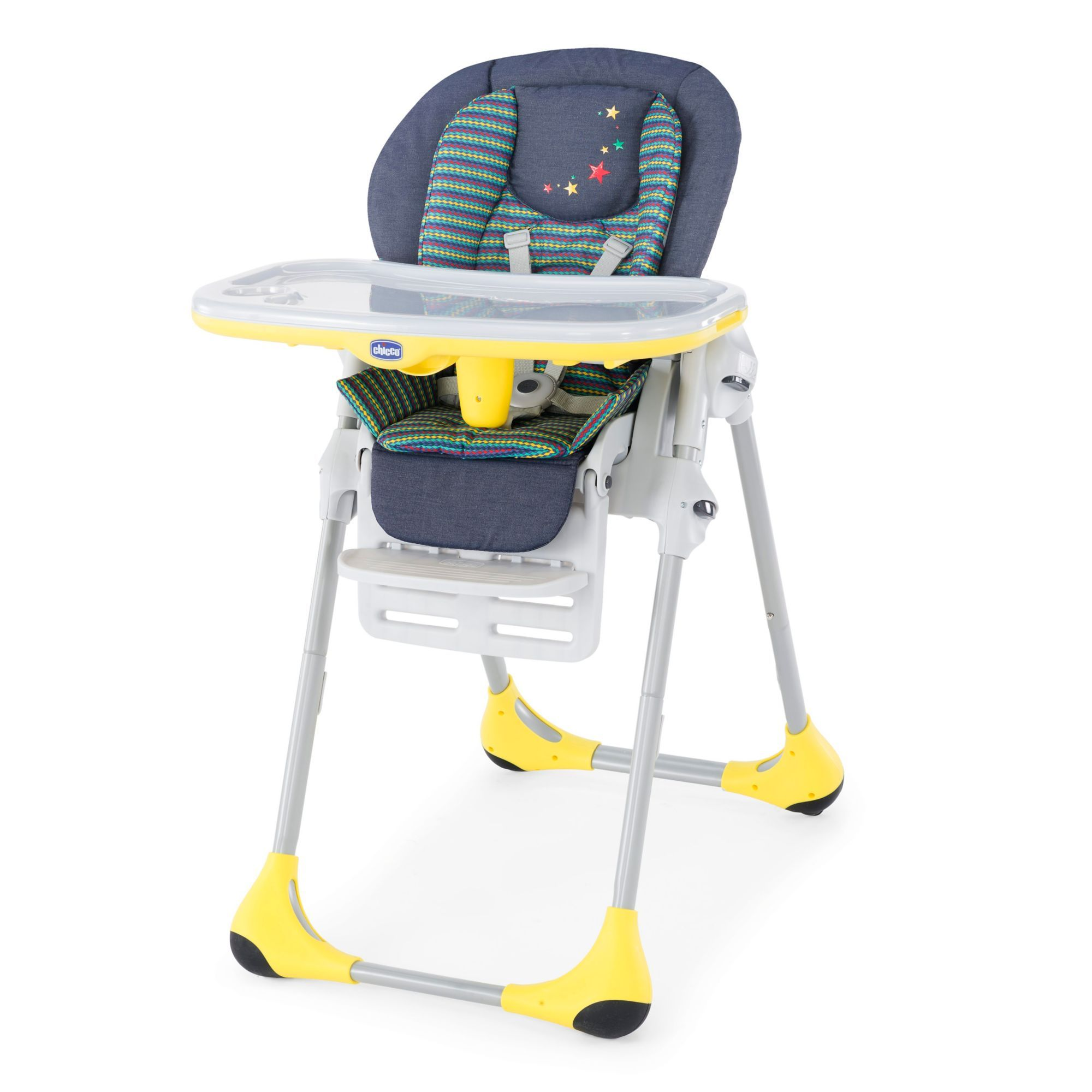 Chicco Polly 2In1 Highchair Denim High chair, Baby