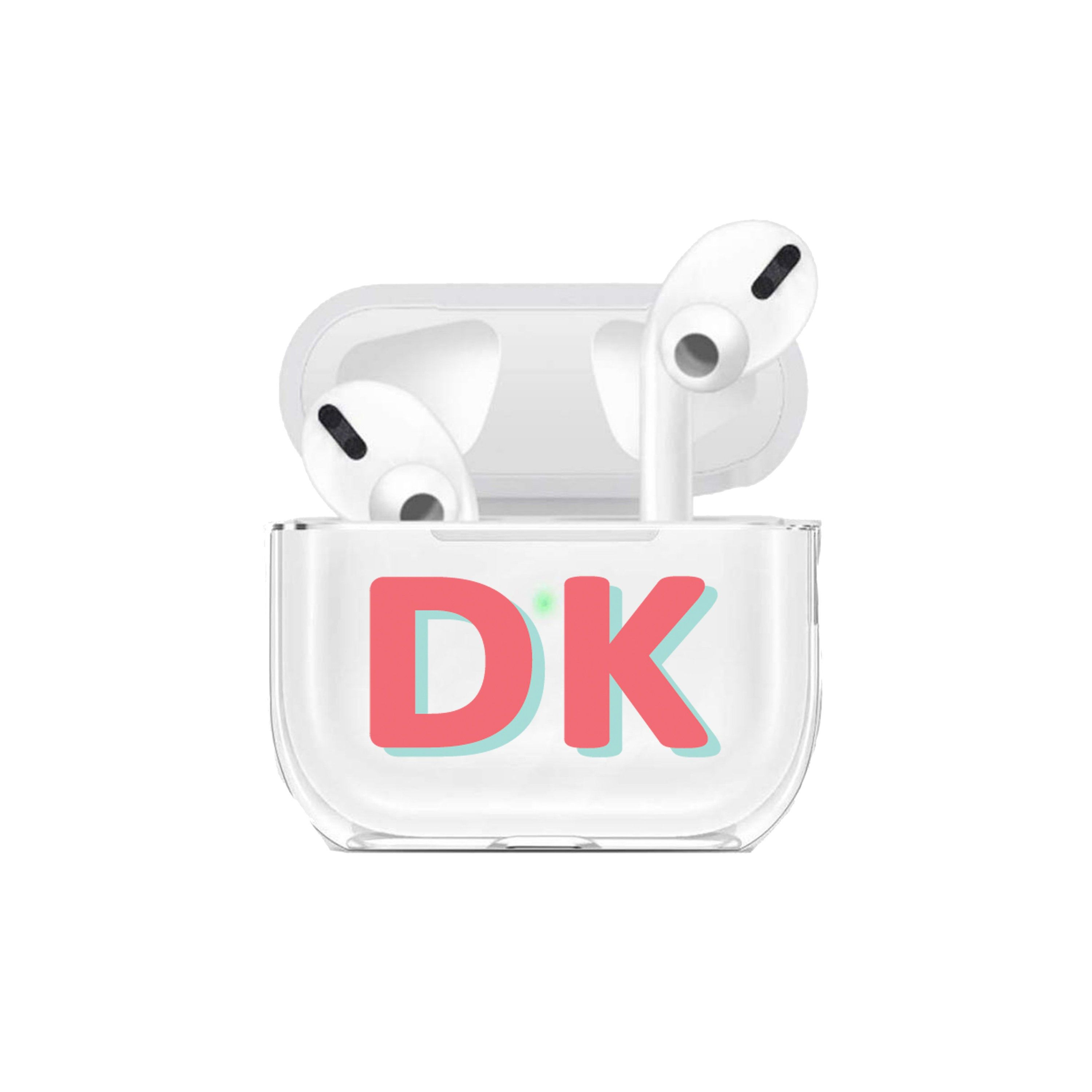 Customized Initials Airpods Pro Case Name And Letter Airpods Pro Case Personalized Gift Color Block Letters Air Pod Pro Case Cute C Block Lettering Case Custom