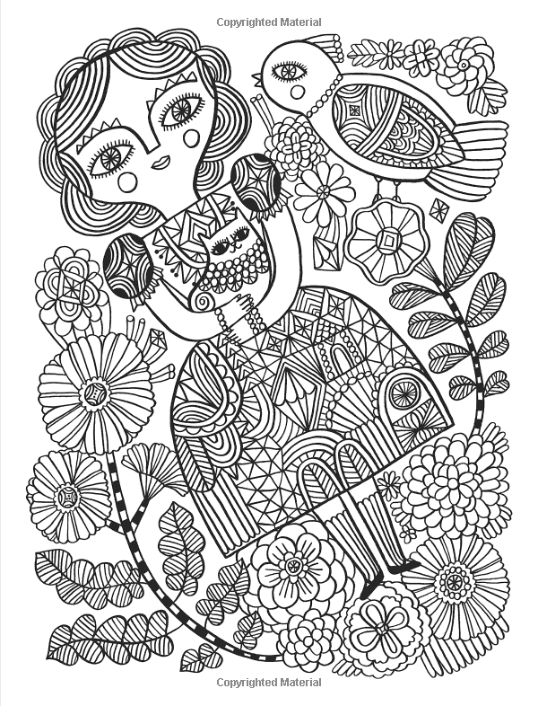 Posh Adult Coloring Book Happy Doodles For Fun Relaxation Flora Chang