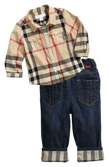 0b76abc9 Cute! Burberry for Baby. | Kids & Baby | Baby boy outfits, Baby ...