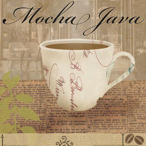 Lisa Van Verthloh Mocha Java Fertig Bild 30x30 Wandbild Kueche Cafe