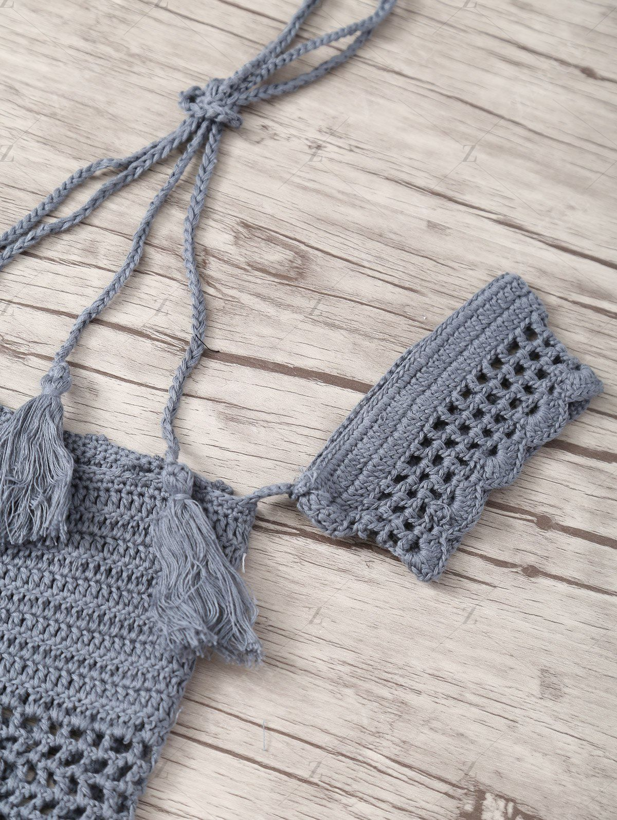 Off Shoulder Cropped Crochet Top GRAY: Blouses | ZAFUL