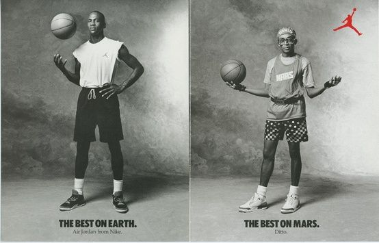 Michael Jordan and Mars Blackman (Spike Lee) in Air Jordan III's 1988