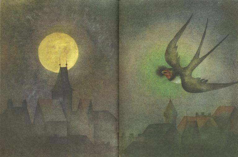 Oscar Wilde, The Happy Prince, illustrazione di Ota Janecek,1969.