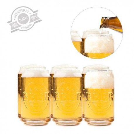 Los vasos Prost! son de cristal, pero imitan una lata de cerveza, por lo que el efecto es estupendo. En tu próxima fiesta sorprende a tus invitados con estos vasos diferentes. Será muy divertido. No hay vasos más originales. El pack contiene 6 vasos.