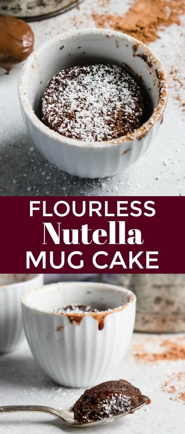 Flourless Nutella Mug Cake | Recipe | Nutella mug cake ...