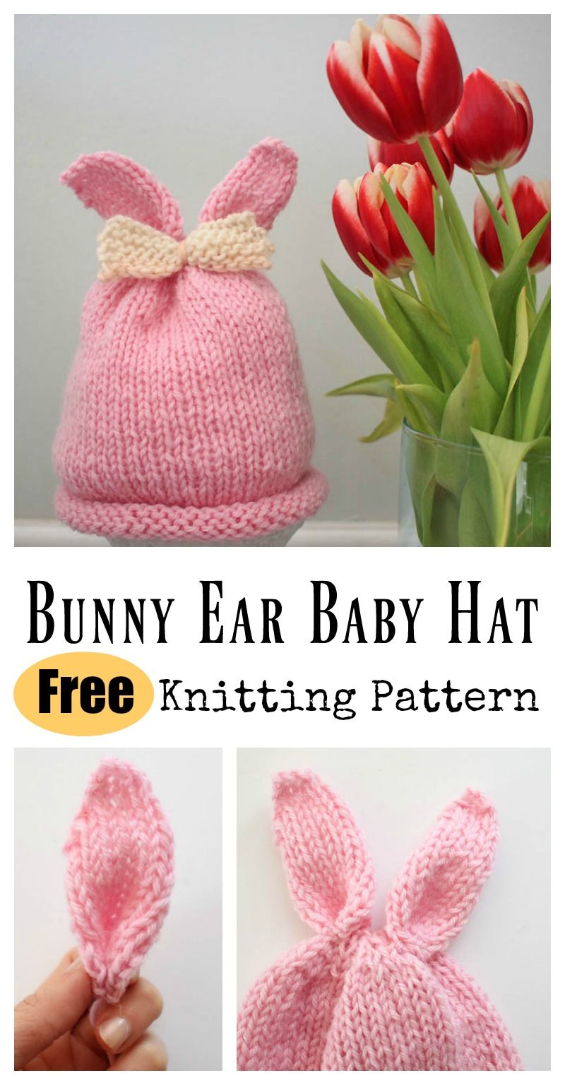 Bunny Ear Baby Hat Free Knitting Pattern Baby Hat Knitting Patterns Free Baby Hat Knitting Pattern Baby Hat Free Pattern