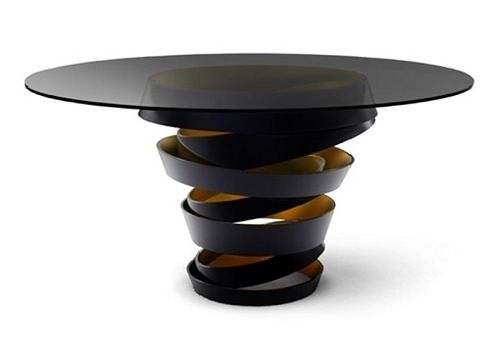 Transparent Black Glass Coffee Table Koket