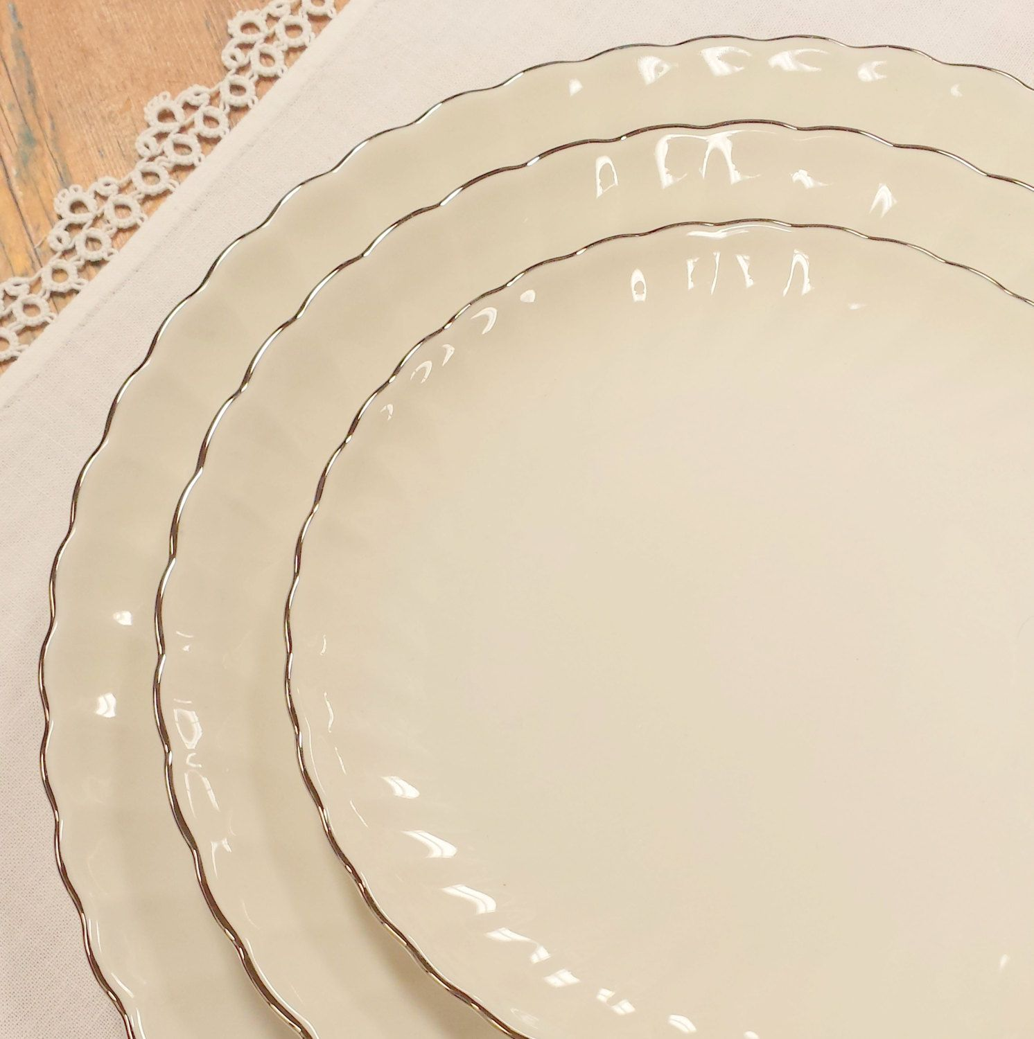 RESERVED: 48 pc Set ~ Silhouette Fine China by Syracuse ~ Pattern ...