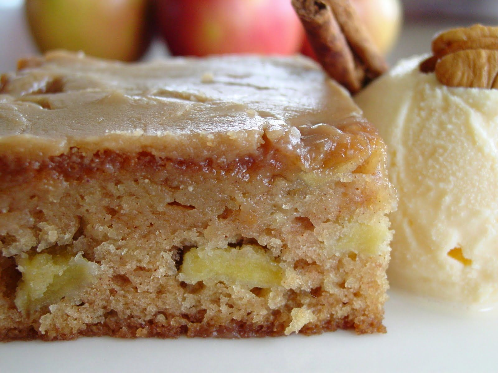 Fresh Apple Cake With Brown Sugar Glaze (1) From Lick The