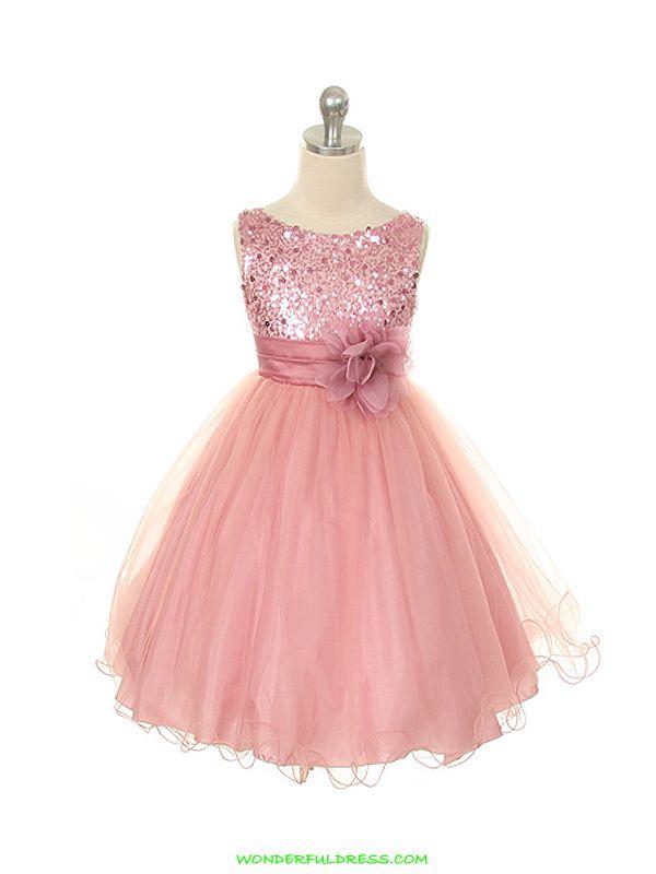 Rose Elegant Stunning Sequined Bodice Girl Dress   Dress for girl ...