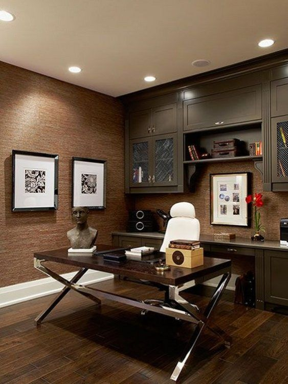 Modern rustic office design take this make that craft bloggers approved pinterest home and also rh