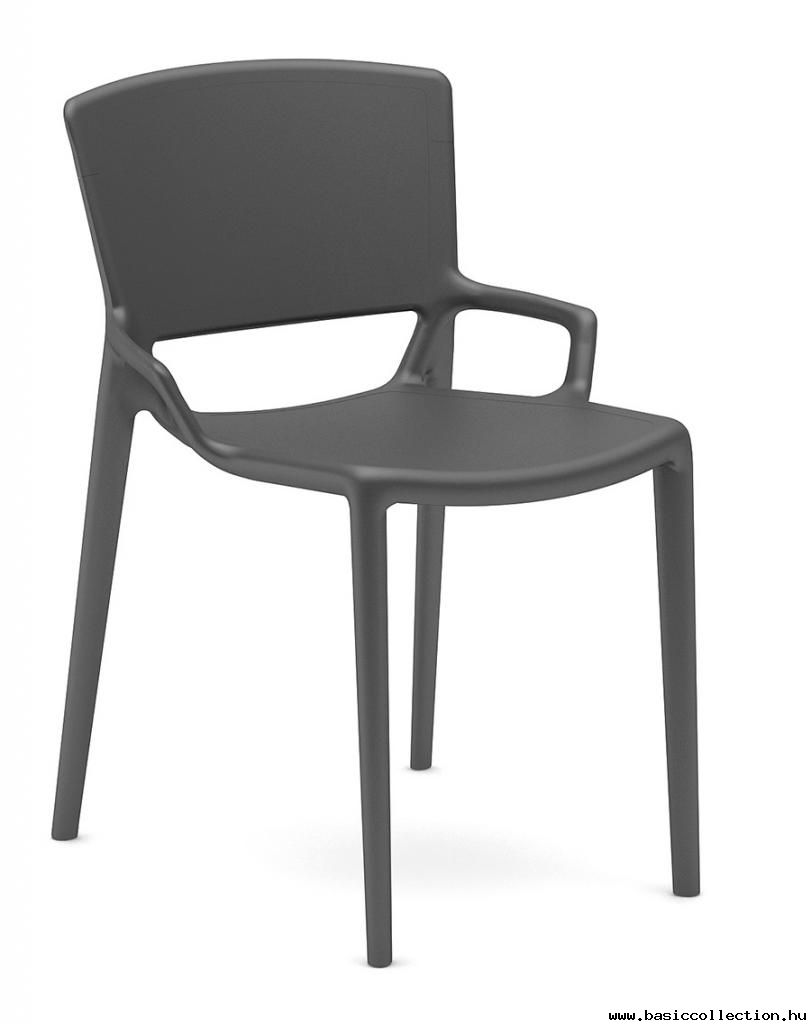 Basic Collection, Fiorellina Chair #outdoor #furniture #chair #outdoor  #black #design #plastic