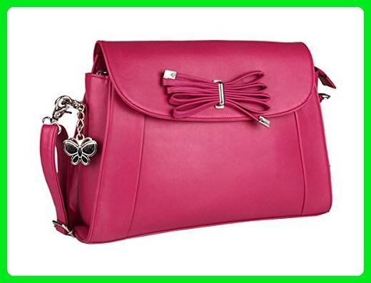 8fd78ed4e7b Butterflies Designer Casual Faux Leather Long Belt Shoulder Handbag ...
