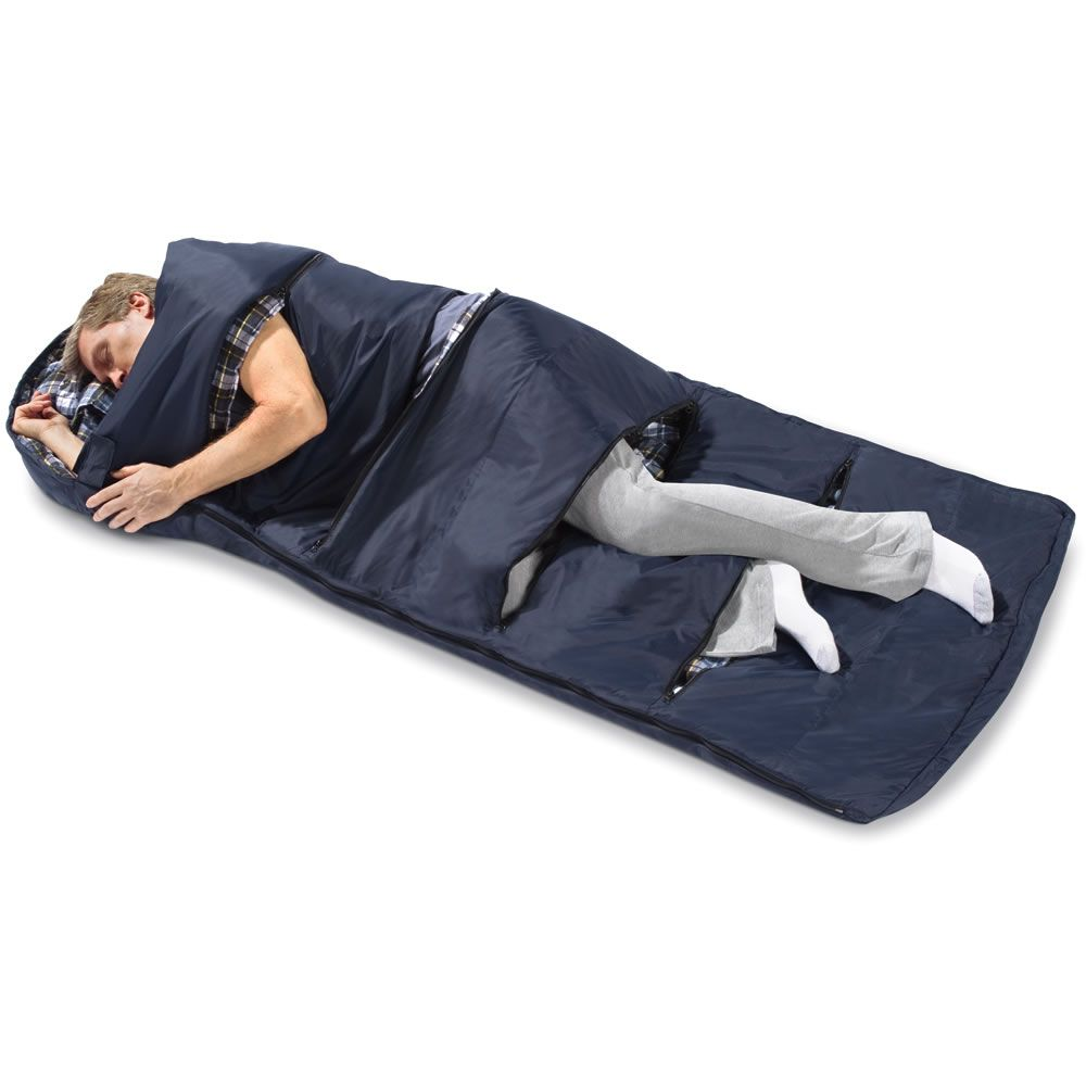 I love it! A sleeping bag for those of us with hot flashes ...