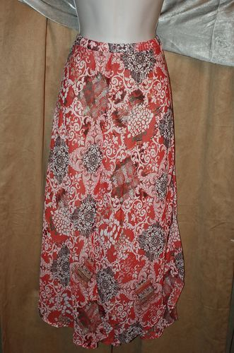 Womans Size M Abstract Print Multi Colored Elastic Waist Lined Skirt by Chenault | eBay