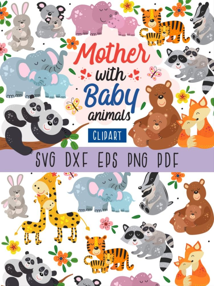 Mothers Day Svg Mother And Baby Clipart Baby Animal Svg Koala Etsy Mother And Baby Animals Mom And Baby Elephant Mother And Baby