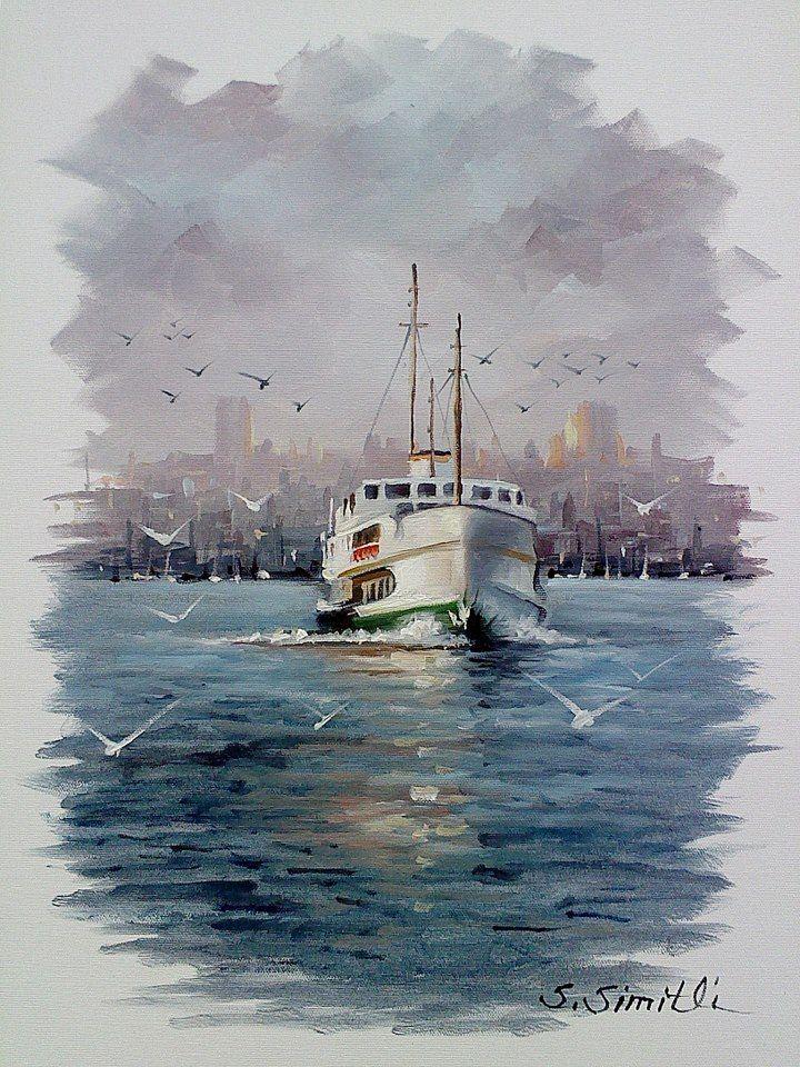 Savas Simitli Tekne Boyama Resim Resim Sanati