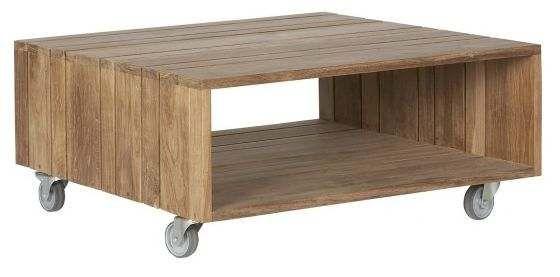 Vaak Behalve van steigerhout kun je deze houten salon tafel ook zelf #ZX41