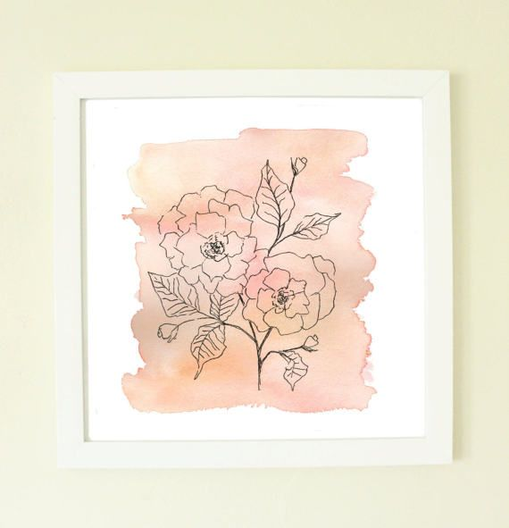 Blush Watercolor Flower Pink Artwork Watercolor Flowers