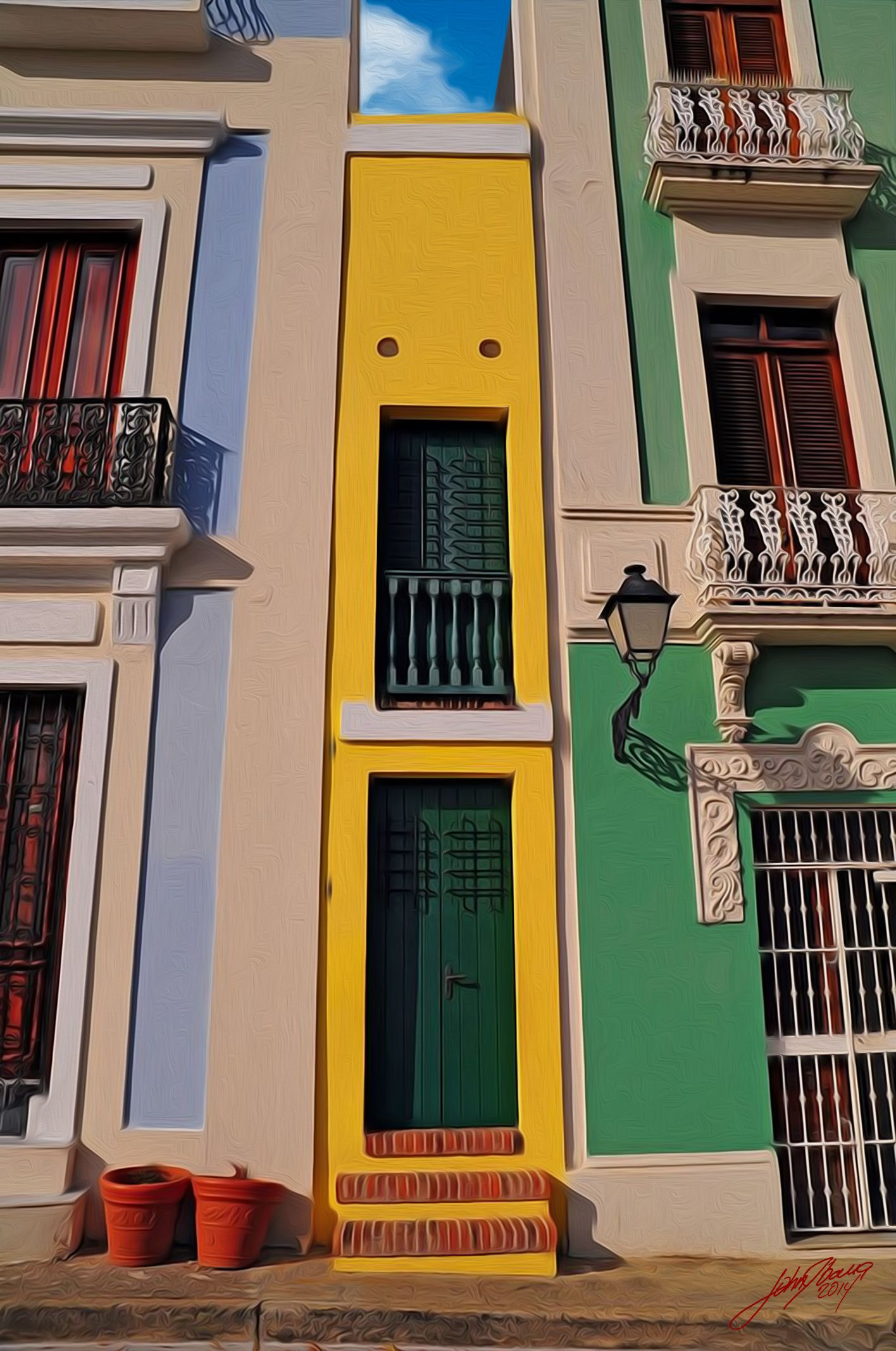 This is the narrow house in san juan puerto rico the exterior measure 5 4 5 feet 4 inches wide but the inside walls measures only 5 feet wide
