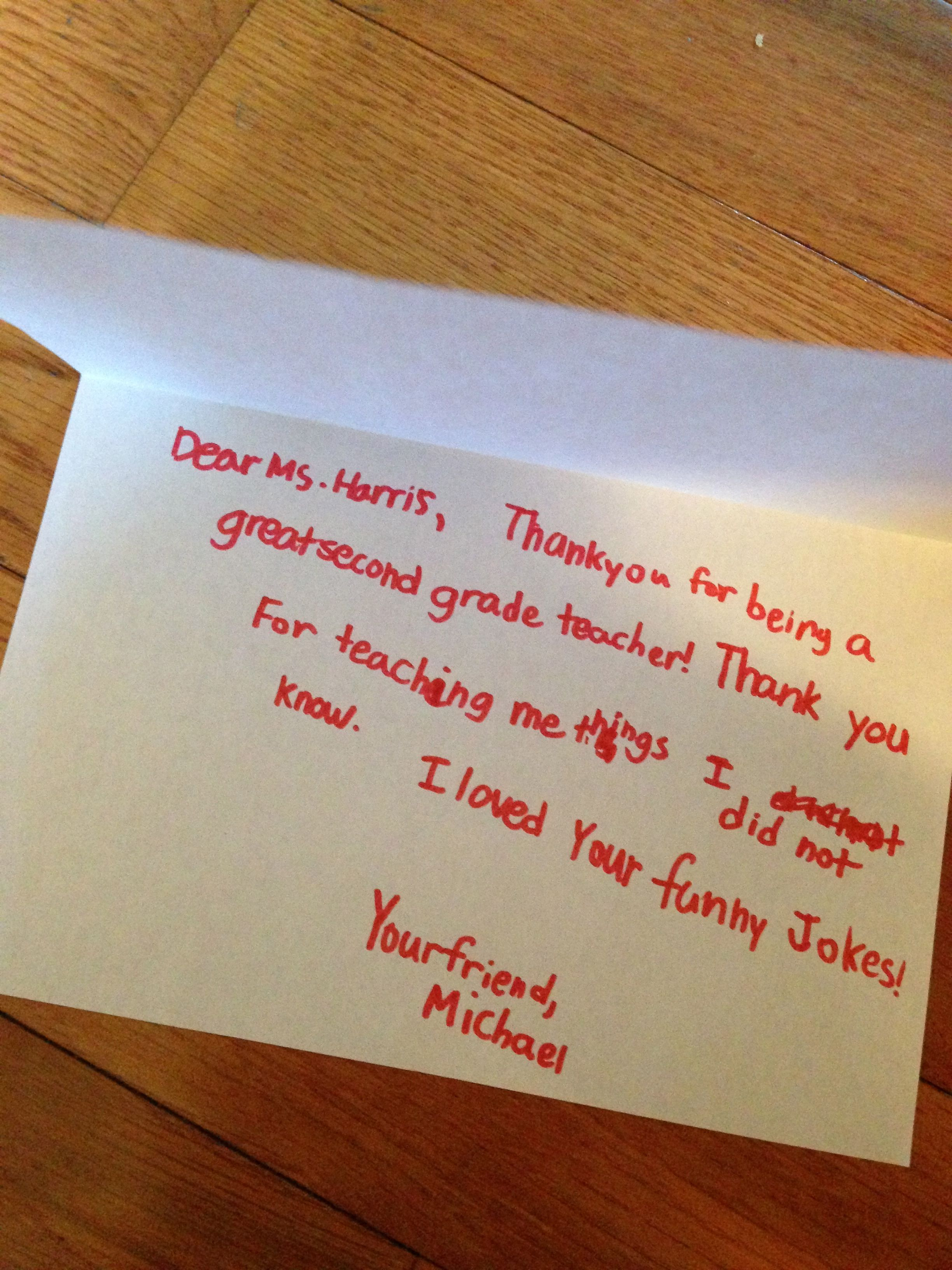 Handwritten Notes Send Free Thank You Card Your Favorite Teacher