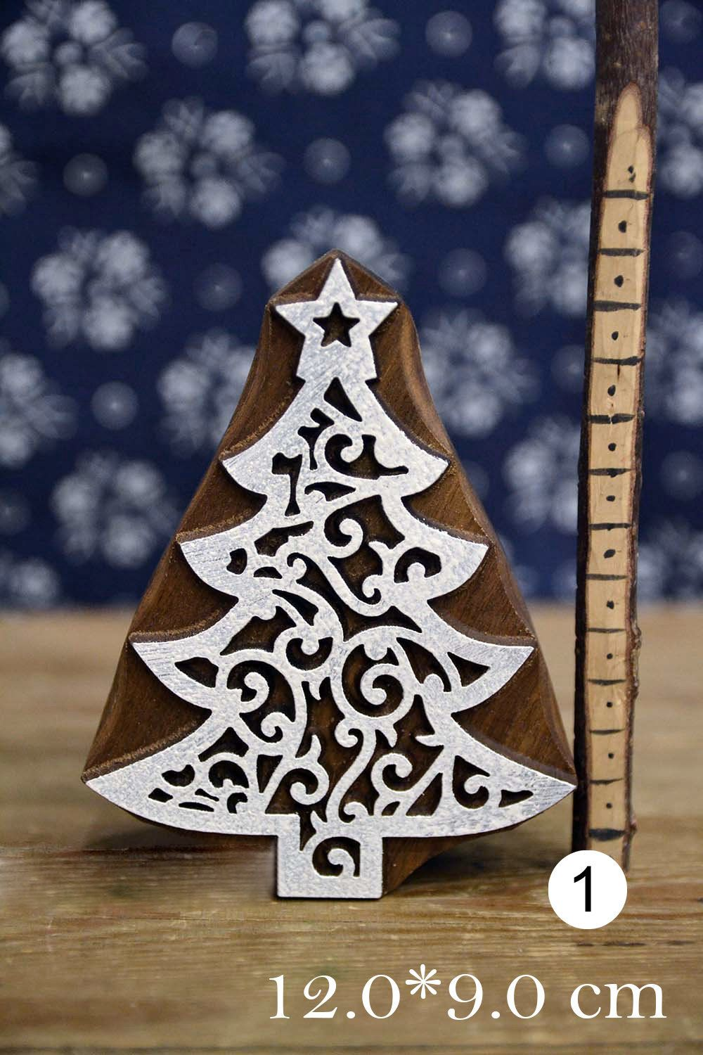 Leather Textile Pottery Gift Idea. Handmade Ethnic Crafts Christmas Mittens Wooden Stamp For Block Printing Cards Print Making