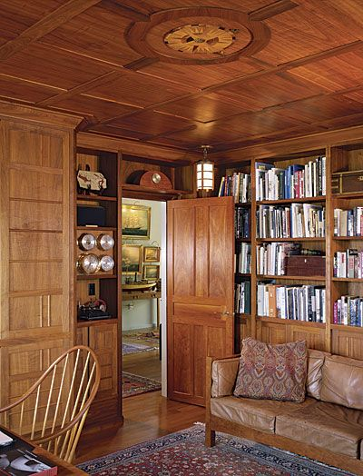 Wood Paneled Library: Man Room, Home Decor, Building A House