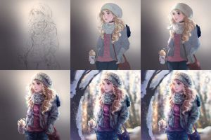 'Ton sur ton' process by Sillyselly